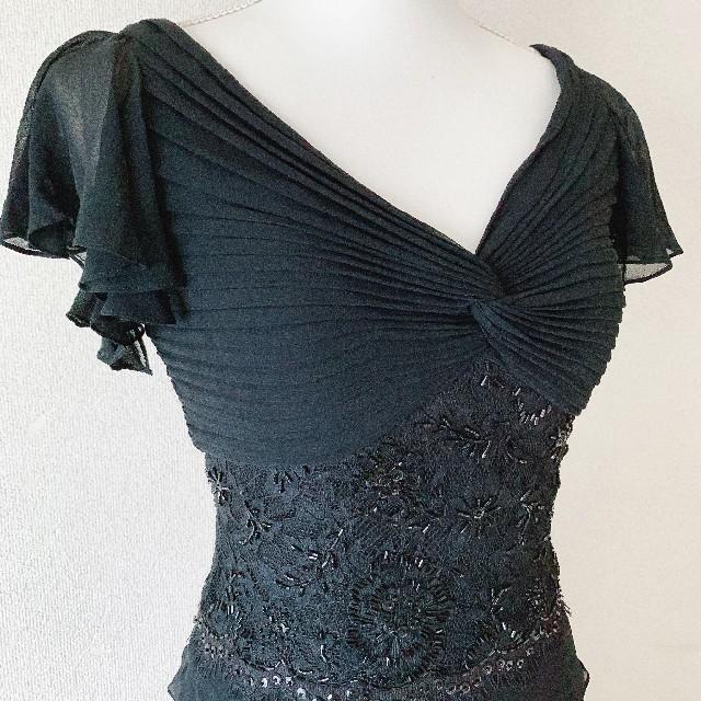 TADASHI SHOJI(タダシショウジ)のTADASHI SHOJI  フリルワンピースドレス レディースのフォーマル/ドレス(ミディアムドレス)の商品写真
