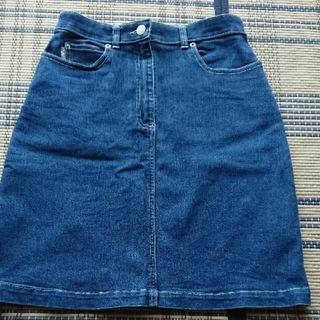 バーバリー(BURBERRY)の値下げ 美品 BURBERRY バーバリー デニムスカート サイズM(ひざ丈スカート)