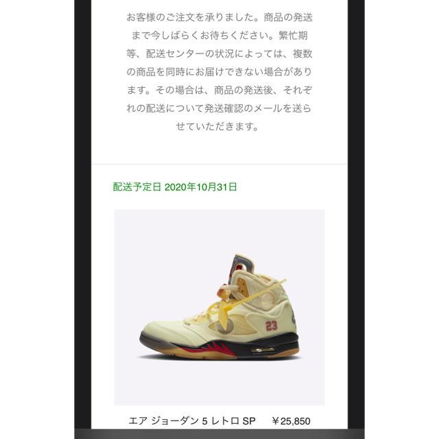 NIKE(ナイキ)のエアジョーダン5 AJ5 off-white メンズの靴/シューズ(スニーカー)の商品写真