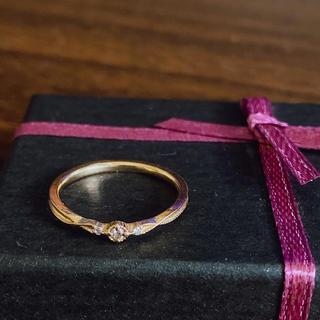 アガット(agete)のagete 10K ダイヤモンドリング 【9号】(リング(指輪))
