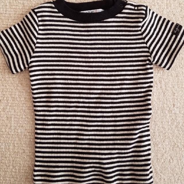 agnes b.(アニエスベー)のボーダーTシャツ アニエスベー キッズ/ベビー/マタニティのベビー服(~85cm)(Tシャツ)の商品写真