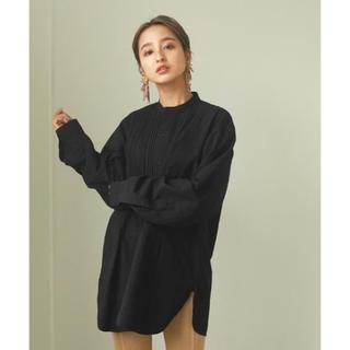 TODAYFUL - 人気商品TODAYFUL タックドレスシャツ ブラック