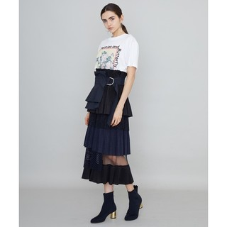 Ameri VINTAGE - ユナイテッドトウキョウ プリーツレイヤードスカート