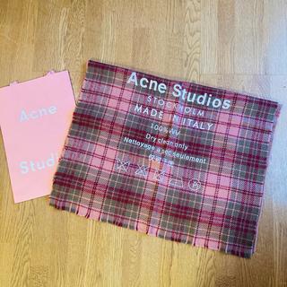ACNE - 【新品未使用】アクネ マフラー ストール チェック柄 ブラウン レッド