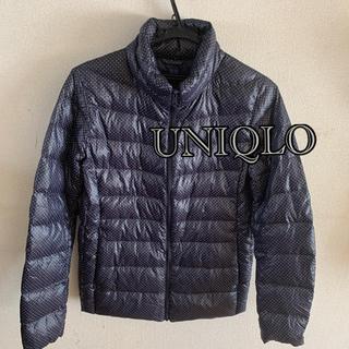 UNIQLO - UNIQLO ユニクロ ウルトラライトダウン ジャケット ドット柄 ネイビー L