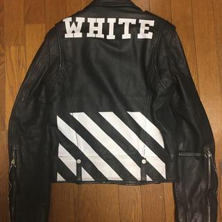 オフホワイト(OFF-WHITE)のoff-white オフホワイト ライダースジャケット レザージャケット(ライダースジャケット)