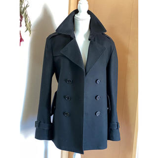 バーバリーブラックレーベル(BURBERRY BLACK LABEL)のバーバリーブラックレーベル  コート 黒 ブラック 変え襟 (ピーコート)