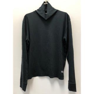 バーバリーブラックレーベル(BURBERRY BLACK LABEL)の美品 バーバリーブラックレーベル ホースマーク刺繍 タートルネック カットソー(Tシャツ/カットソー(七分/長袖))