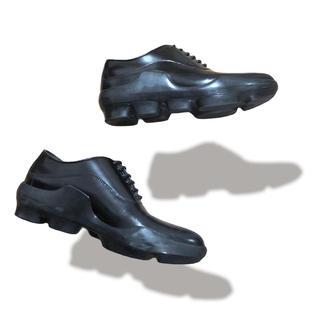 PRADA - PRADA MIU MIU プラダ 厚底 クラシック レザー シューズ 靴