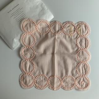 mina perhonen - 未使用 ミナペルホネン タンバリン ハンカチ ピンク tambourine