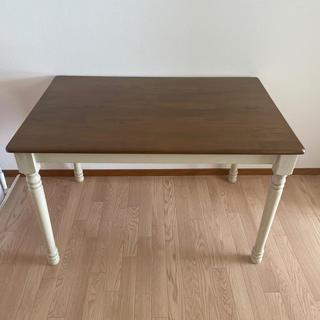 ウニコ(unico)のアンティーク風 ダイニングテーブル(ダイニングテーブル)