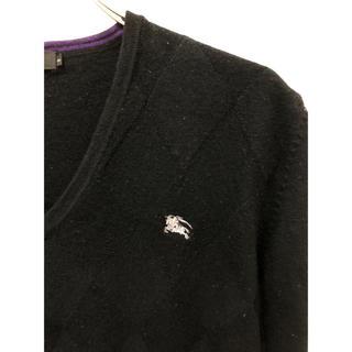 バーバリーブラックレーベル(BURBERRY BLACK LABEL)のバーバリーブラックレーベル 羊毛100% シャドーアーガイル ニット セーター(ニット/セーター)