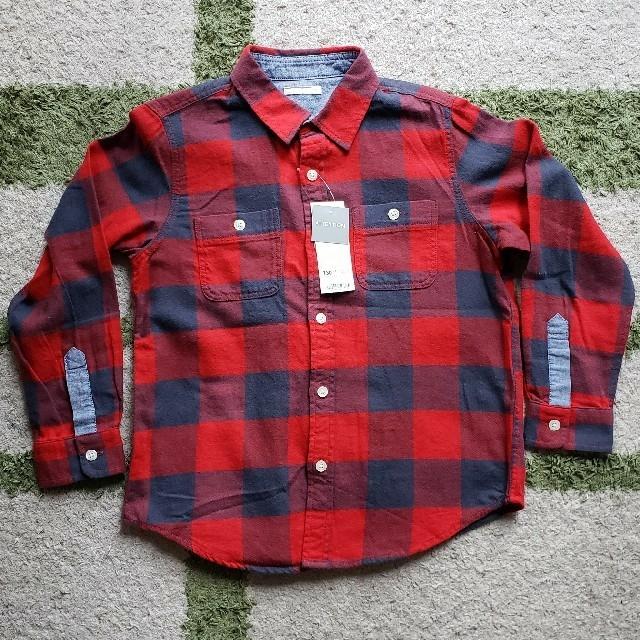 GU(ジーユー)のGU 長袖シャツ 130㎝ キッズ/ベビー/マタニティのキッズ服男の子用(90cm~)(ブラウス)の商品写真