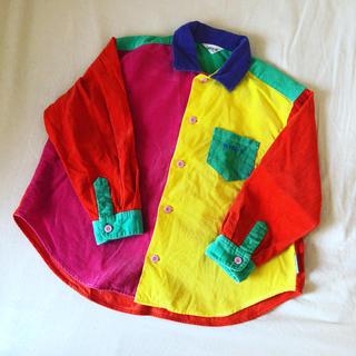 MINI-K - 【USED古着 Kids】カラフルコーデュロイシャツ