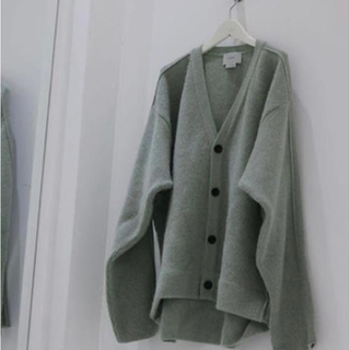 1LDK SELECT - Yoke attic別注 7G alpaca wool cardigan