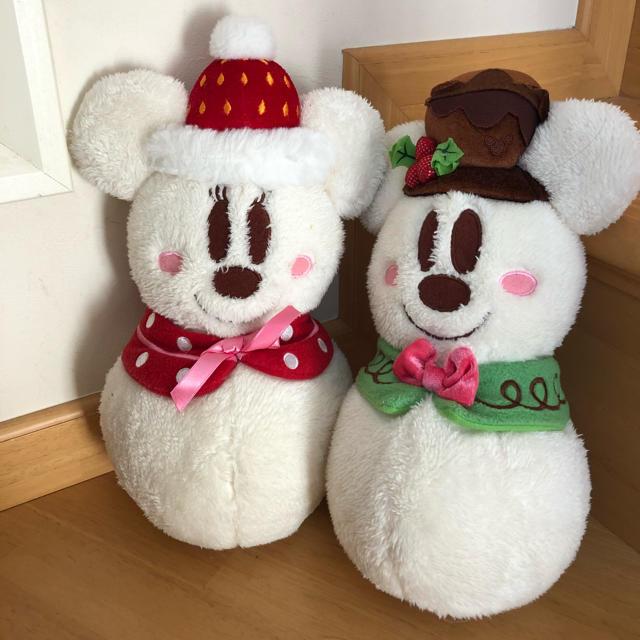 Disney(ディズニー)のディズニー雪だるまミッキー エンタメ/ホビーのおもちゃ/ぬいぐるみ(ぬいぐるみ)の商品写真