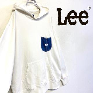 リー(Lee)の美品 Lee スウェットパーカー メンズL ホワイト(パーカー)