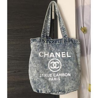 CHANEL - デニムトートバッグ