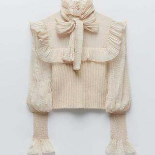 ZARA - ZARA コントラストニットセーター