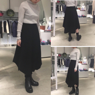 ENFOLD - [新品同様品]  ENFOLD  2018AW ウールヘムライン スカート