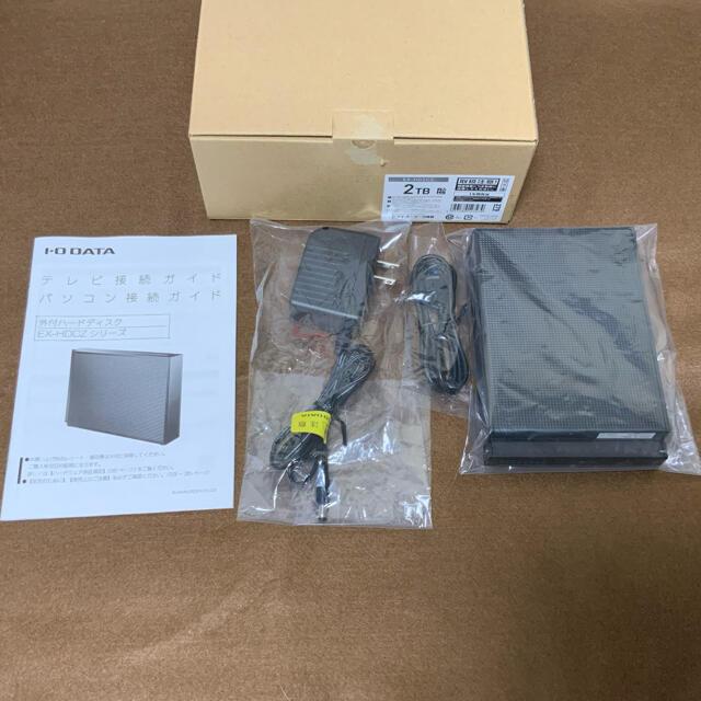 IODATA(アイオーデータ)のEX-HD2CZ I-O DATA 外付けハードディスク 2TB 中古美品 スマホ/家電/カメラのPC/タブレット(PC周辺機器)の商品写真