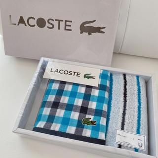 ラコステ(LACOSTE)のLACOSTE タオルハンカチセット(ハンカチ/ポケットチーフ)