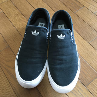 adidas - adidas   アディダス スリッポン ブラック 25.5cm
