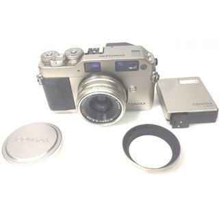★完動・極美品★Contax G1 ROM 改造済 ボディ+レンズ+フラッシュ