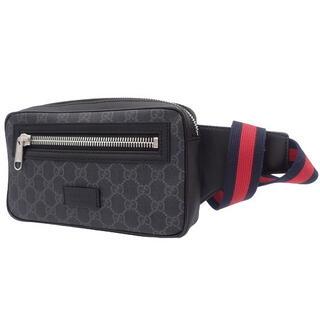 Gucci - グッチウエストバッグ ベルトバッグ GGスプリームキャンバス ブラック黒