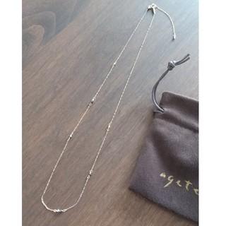 アガット(agete)のアガット新品K10ブラックダイヤネックレス(ネックレス)