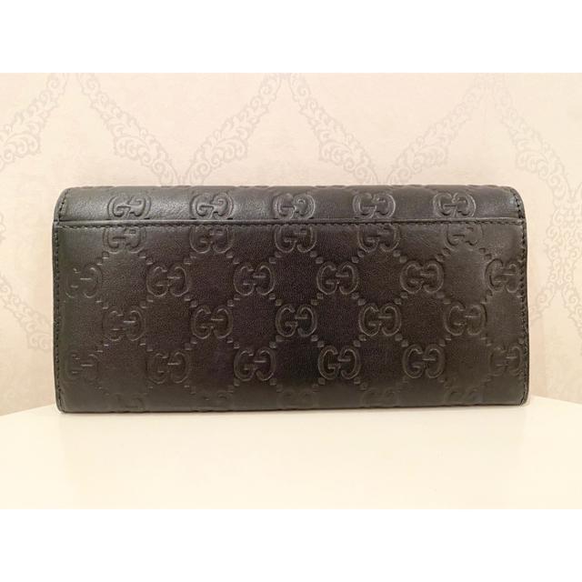 Gucci(グッチ)のGUCCI グッチ 長財布 GUCCISSIMA グッチシマ ブラック レザー メンズのファッション小物(長財布)の商品写真