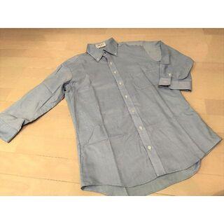 オリヒカ(ORIHICA)の美品!オリヒカ ワイシャツ 七分袖 ブルー系 形状安定(シャツ)
