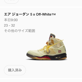 OFF-WHITE - 値段交渉◯NIKE OFF-WHITE AIR JORDAN5