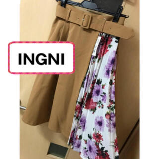 INGNI - 新品♡INGNI  サイドプリーツ ベルトつき フレアスカート オシャレ