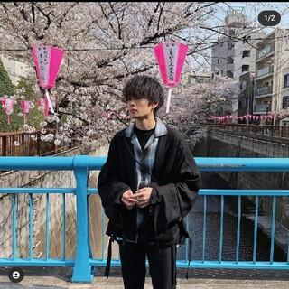 サンシー(SUNSEA)のANEI 19aw side slit haori big w/c black(その他)