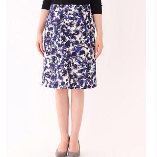 クードシャンス(COUP DE CHANCE)のクードシャンス  フラワー柄スカート (ひざ丈スカート)