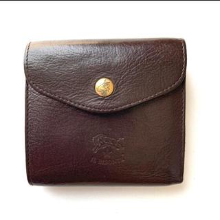 イルビゾンテ(IL BISONTE)のイルビゾンテ IL BISONTE コンパクト 二つ折り財布 こげ茶(財布)