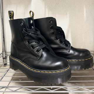 ドクターマーチン(Dr.Martens)のDr.Martens  厚底 ダブルソール UK6 molly ブーツ(ブーツ)