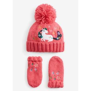 NEXT - 新品❣️ネクスト ニット帽子と手袋セット ピンク
