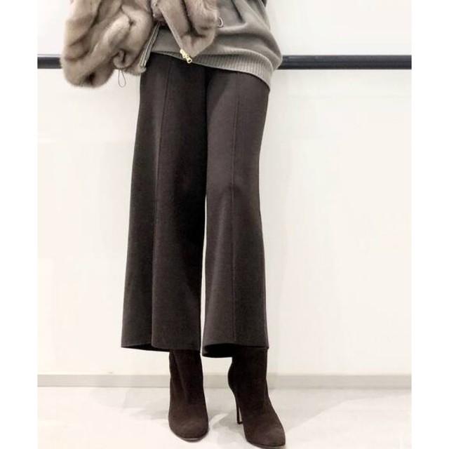 L'Appartement DEUXIEME CLASSE(アパルトモンドゥーズィエムクラス)のKnit Cropped パンツ■ブラック 34■アパルトモン レディースのパンツ(カジュアルパンツ)の商品写真