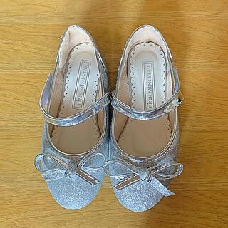 子供 靴 フォーマル シルバーラメ バレーシューズ 18.5センチ相当(フォーマルシューズ)