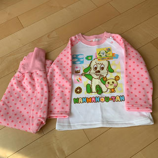 AEON - 新品 95cm 長袖パジャマ ピンク わんわん うーたん おかあさんといっしょ