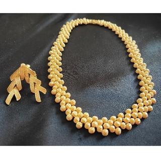ゴールド調 ネックレス イヤリング(ネックレス)