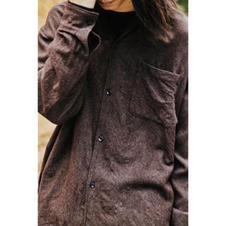 コモリ(COMOLI)のCOMOLI 2020AW ウールオープンカラーシャツ サイズ3 新品未使用(シャツ)