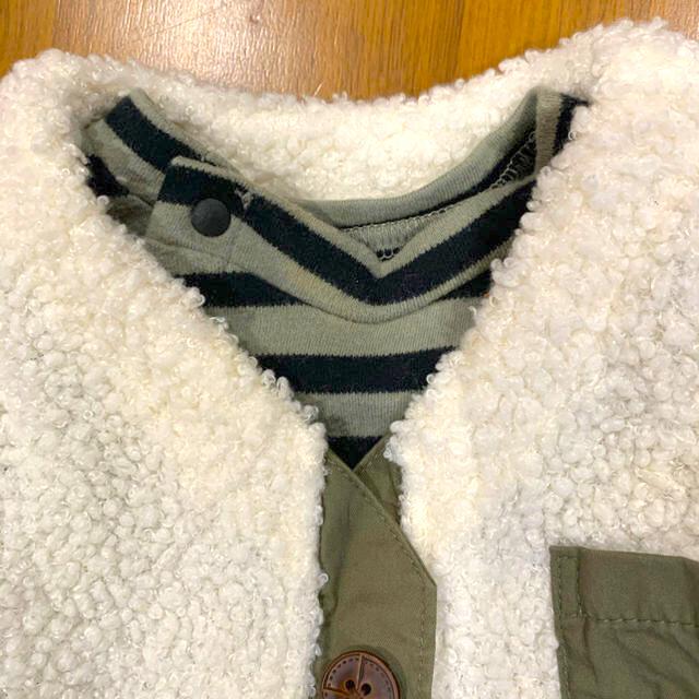 ampersand(アンパサンド)のお値下げ ampersand ドッキングロンパース  70 キッズ/ベビー/マタニティのベビー服(~85cm)(ロンパース)の商品写真