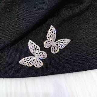 バタフライピアス ジルコニア 蝶々ピアス
