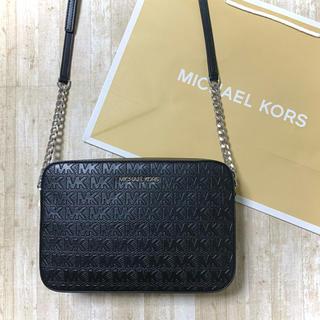 Michael Kors - 新品未使用 マイケルコース ブラック レザー ボックス ロゴ ショルダーバッグ