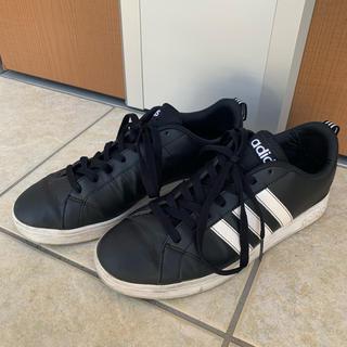adidas - adidas スニーカー 黒 ブラック 25.5cm 靴 アディダス モノトーン