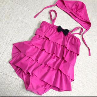 水着 女の子 韓国子供服 140cm 〜 150cm 美品 1度使用 (水着)