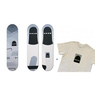 メディコムトイ(MEDICOM TOY)のLY リィ PAINTER skate deck セット Tシャツ ステッカー付(フィギュア)